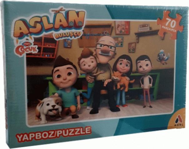 Adeland Trt Çocuk Aslan Buluşçu 70 Parça Kutulu Puzzle