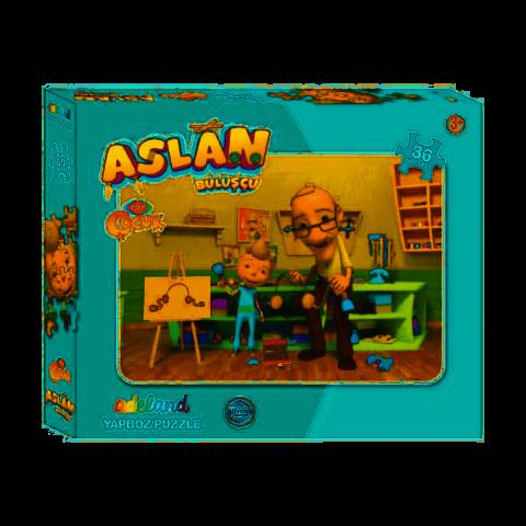 Adeland Trt Çocuk Aslan Kutulu Puzzle 35 Parça