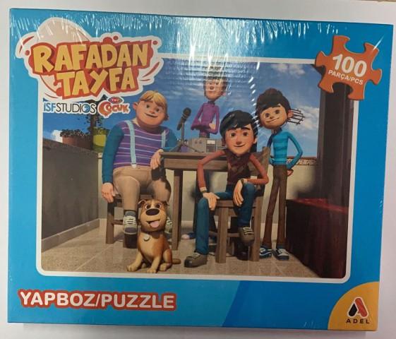 Adeland Trt Çocuk Rafadan Tayfa 100 Parça Kutulu (Puzzle)