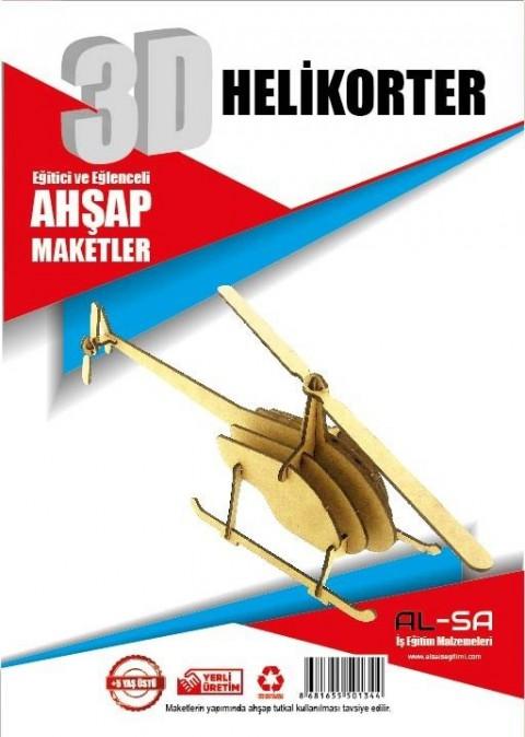 Alsa Iş Teknik 3d Ahşap Maket Helikopter