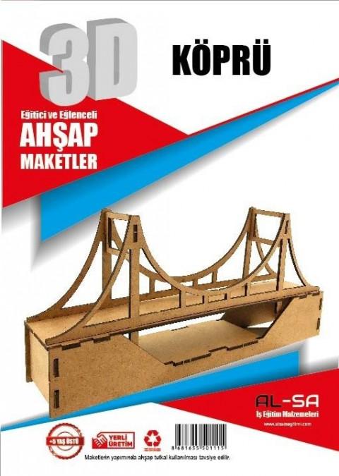 Alsa Iş Teknik 3d Ahşap Maket Köprü