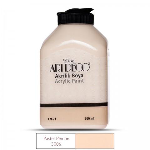 Artdeco Akrilik Ahşap Boyası 500Ml 3006 Pastel Pembe