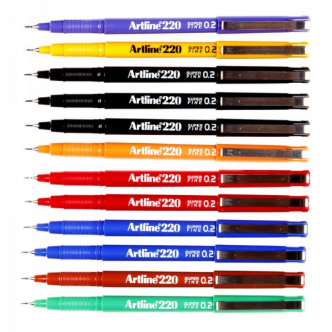 Artline 220 N Çizim Kalemleri 0.2mm 7'li Set