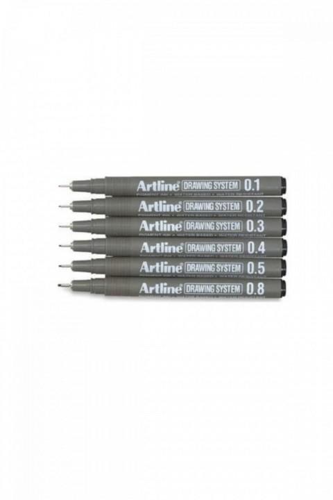 Artline Drawing System Teknik Çizim Kalemi 6'lı Set