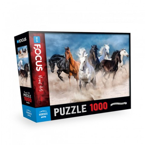 Blue Focus 1000 Parça Puzzle - Horses (Atlar)
