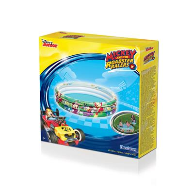 Bestway 3 Bölmeli Mickey Mouse Şişme Havuz + Mini El Pompası 30 Cm Hediyeli