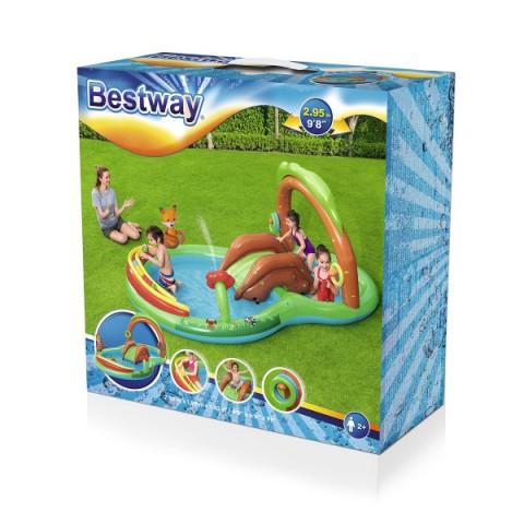 Bestway Kaydıraklı Oyun Havuzu Seti + Mini El Pompası 30 Cm Hediyeli