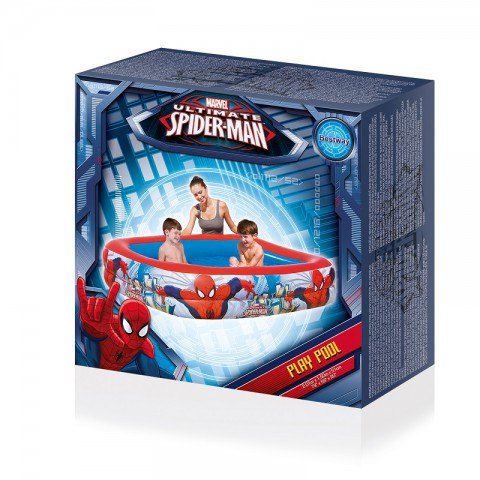 Bestway Spider-Man Dikdörtgen Havuz + Mini El Pompası 30 Cm Hediyeli