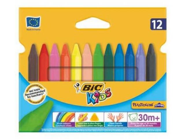 Bic Elleri Kirletmeyen Üçgen Pastel Boya 12