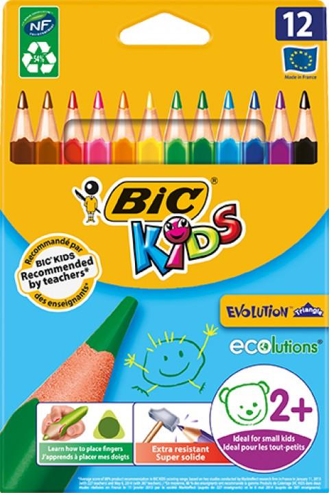 Bic Evolution Üçgen Jumbo Boya Kalemi 12 Li Kutu