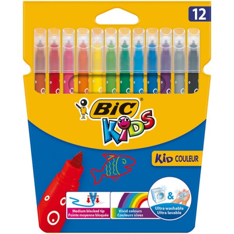 Bic Kids Couleur Keçeli Boya Kalemi 12 Renk