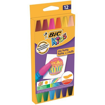 Bic Pastel Boya 12 Renk