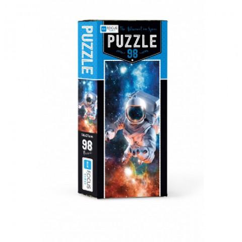 Bleu Focus The Astronaut In Space Puzzle 98 Parça