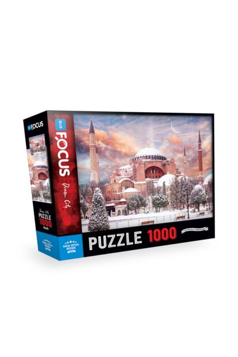Blue Focus 1000 Parça Puzzle - Ayasofya Camii