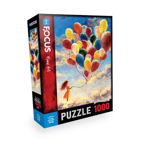 Blue Focus 1000 Parça Puzzle Flying Ballons