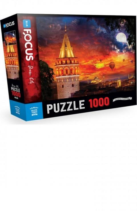 Blue Focus 1000 Parça Puzzle Galata Kulesi