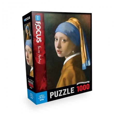Blue Focus 1000 Parça Puzzle - İnci Küpeli Kız