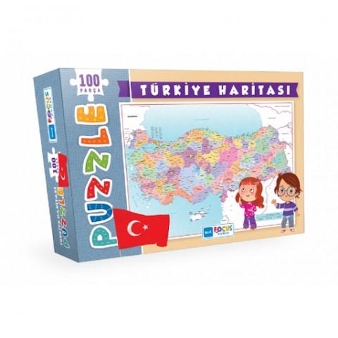 Blue Focus Blue Focus Türkiye Haritası Puzzle 100 Parça