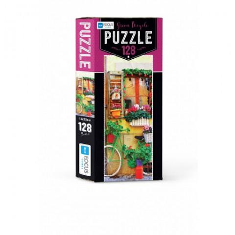 Blue Focus Green Bicycle Puzzle 128 Parça