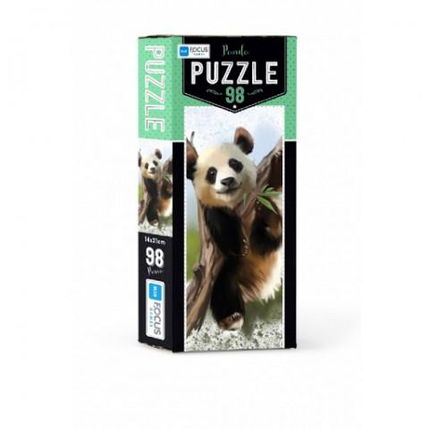 Blue Focus Panda Puzzle 98 Parça