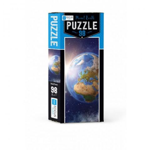 Blue Focus Planet Earth Puzzle 98 Parça