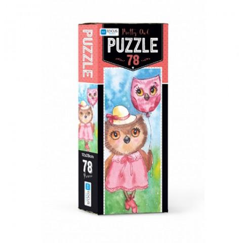 Blue Focus Pretty Owl Puzzle 78 Parça