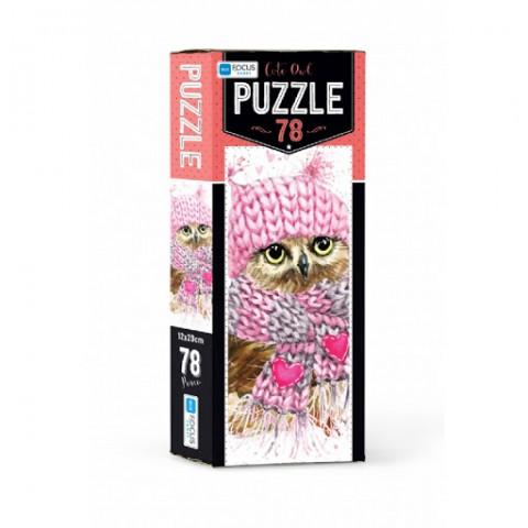 Blue Focus Puzzle Cute Owl 78 Parça