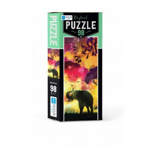 Blue Focus Puzzle Elephant 98 Parça
