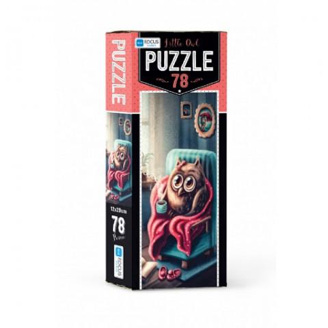 Blue Focus Puzzle Little Owl 78 Parça
