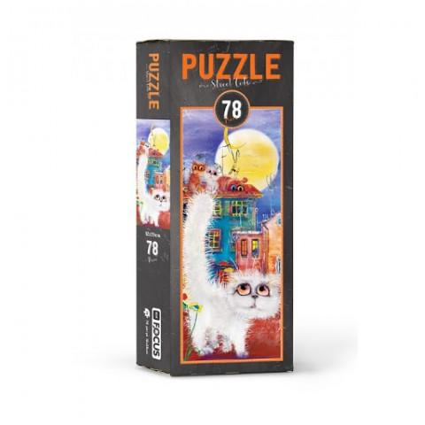 Blue Focus Puzzle Street Cats 78 Parça