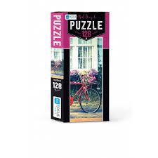Blue Focus Red Bicycle Puzzle 128 Parça