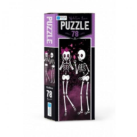 Blue Focus Skeleton Love Puzzle 78 Parça