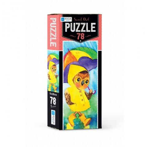 Blue Focus Sweet Owl Puzzle 78 Parça