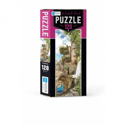 Blue Focus Waterfall Street Puzzle 128 Parça