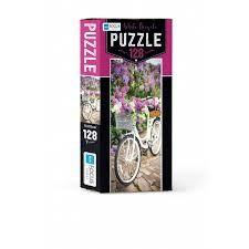 Blue Focus White Bicycle Puzzle 128 Parça