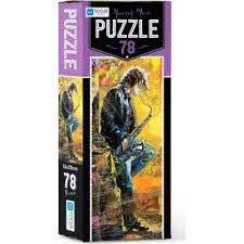 Blue Focus Young Man Puzzle 78 Parça
