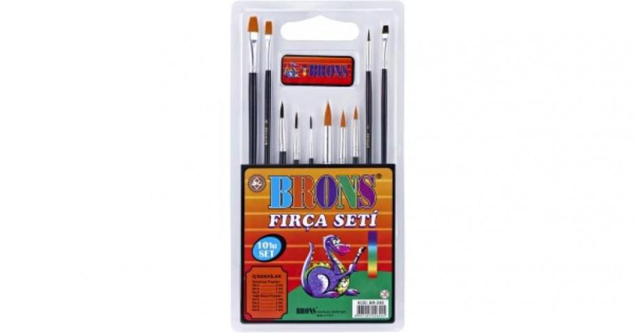 Brons Fırça Seti 10 lu BR-248