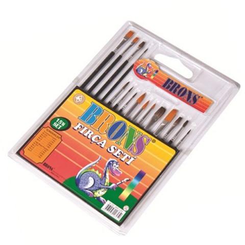 Brons Fırça Seti Sulu Ve Yağlı Boya 15 Li