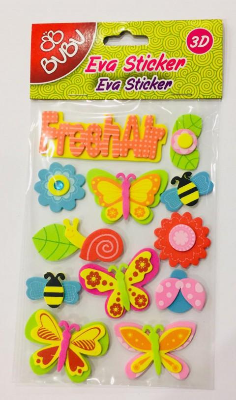 Bu-Bu 3D Eva Sticker Küçük