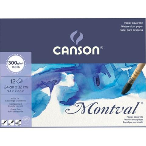 Canson Montval Suluboya Blok 24*32cm 12 Yaprak 300gr