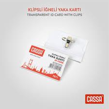 Cassa 7511 Klipsli İğneli Yaka Kartı