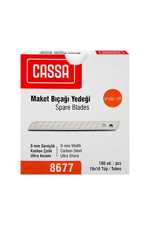 Cassa 8677 Maket Bıçağı Yedeği 9mm 100 Adet