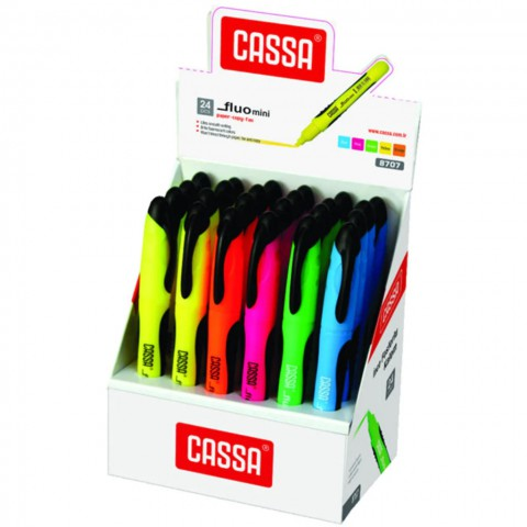 Cassa 8707 Kalem Tipi Fosforlu Kalem 6 Renk Set