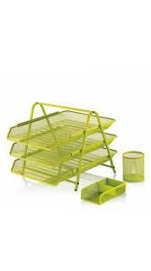 Cassa Evrak Rafı+Kalemlik+Kağıtlık Set Yeşil