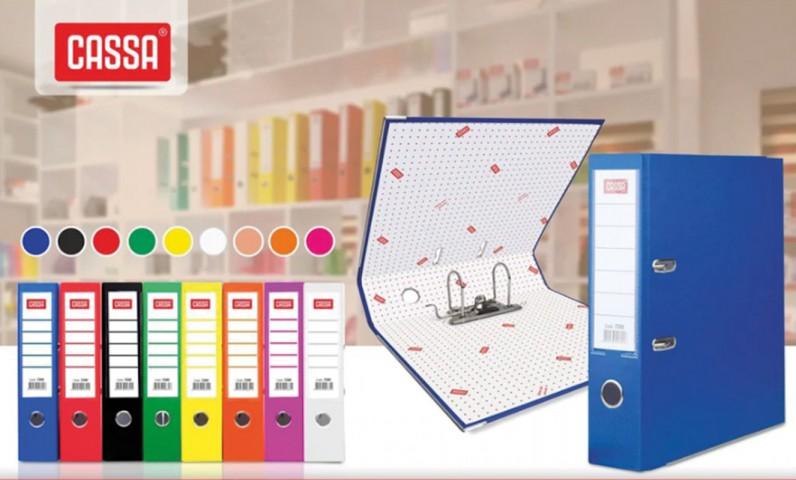 Cassa Geniş Plastik Büro Klasörü A4 5 Adet Renk Seçenekleri