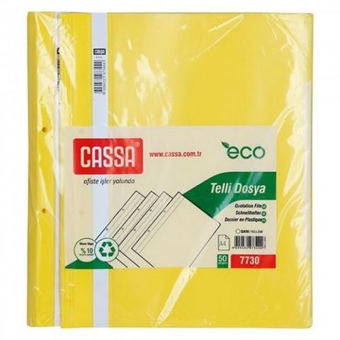 Cassa Telli Dosya Eco 50'li Sarı