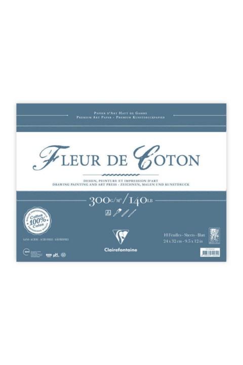 Clairefontaine Fleur De Coton 24x32 10 Yaprak Çizim Defteri