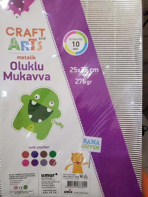 Craft and Arts OLUKLU MUKAVVA METALIK 25X35 10'LU 276GRAM