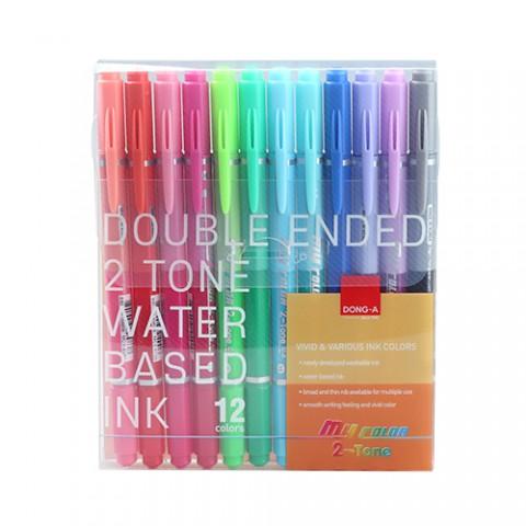 Donga My Color 12 Renk 2 Çift Taraflı Keçeli Kalem