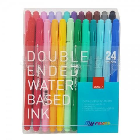 Donga My Color 24 Renk 2 Çift Taraflı Keçeli Kalem